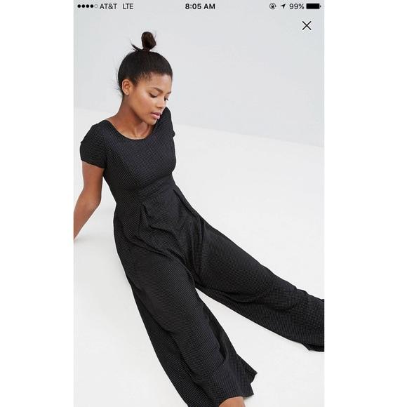 82ce1ac9a9bd ASOS Pants - Monki Polka Dot Wide Leg Jumpsuit